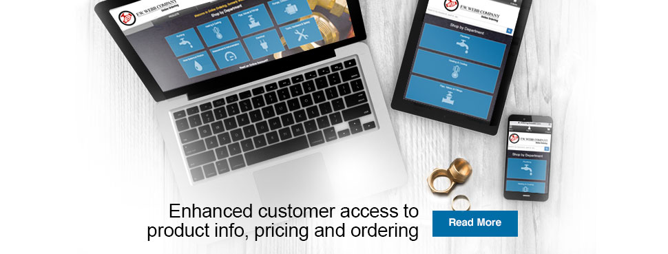 Enhanced customer access to product info, pricing and ordering.
