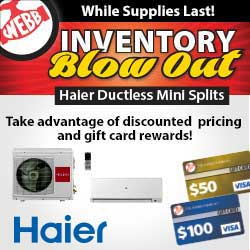 Haier Mini-Splits Inventory Blowout