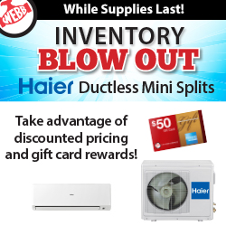 Haier Ductless Mini Splits Blowout